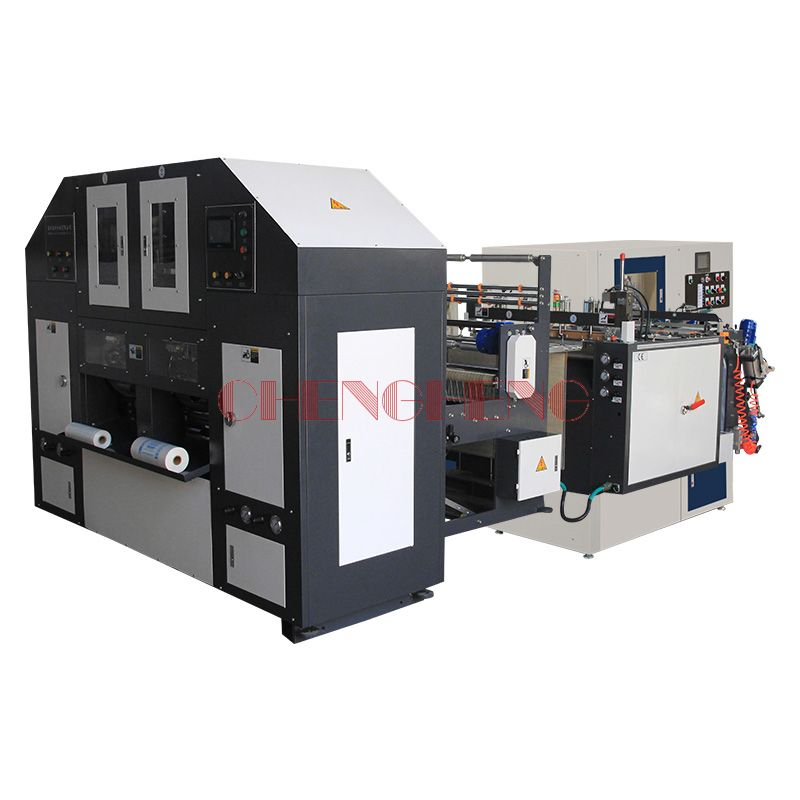 CH-SCR-2 Double Line Automatic 2 Lines Rolling Bag Making Machine(With Core)
