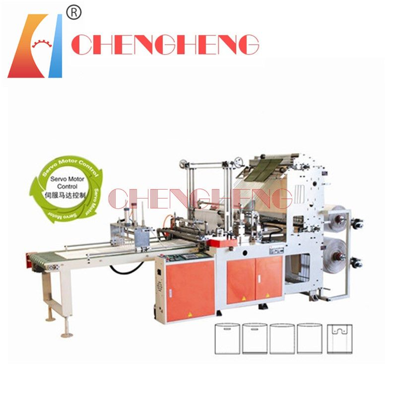 CH-BCT cold cutting bottom sealing T-shirt bag making machine